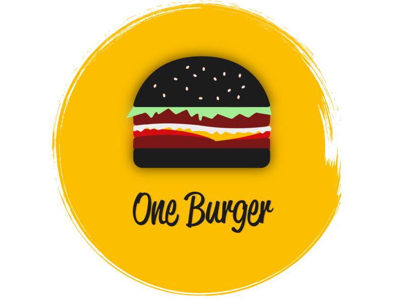 Burger Joint - One Burger logodesignchallengeday33 dailylogochallengeday33 burgerjoint oneburger illustration vector design logo 2d logodesignchallenge logo dailylogochallenge