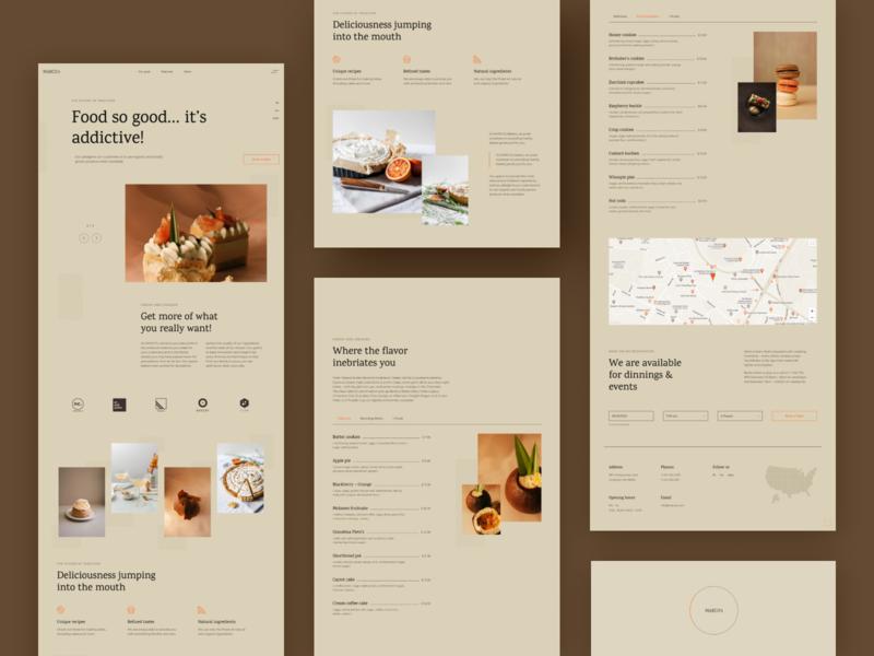 Marcos Bakery webdesign bakery site bakery minimalistic restaurant design restaurant landing page food design food website design restaurant