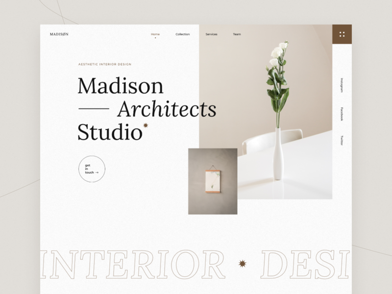 Interior Studio studio design site design website design webdesign minimalism clean design uxdesign uidesign header design interiordesign architect concept design concept