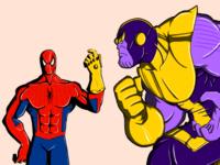 Thanos vs Spidey