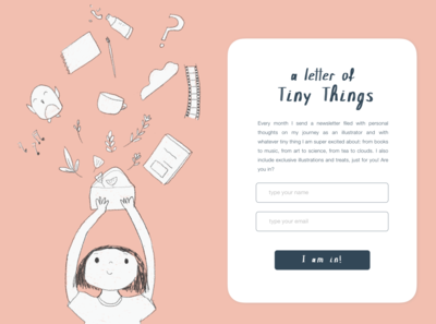 Tiny Newsletter Subscription