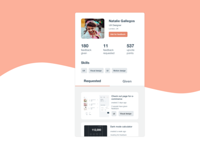 DailyUI 006 | Profile