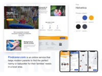 Landing Page and App design (search for a childcarer)