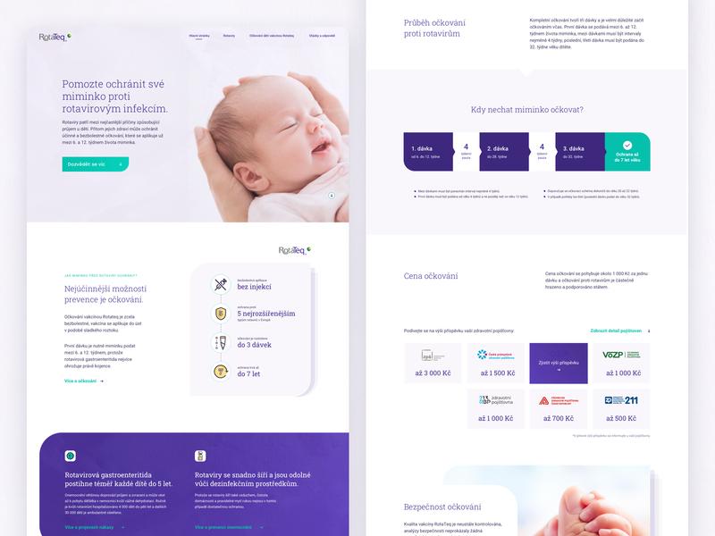 Rotateq - Rotavirus Protection Website website webflow uxui webdesign