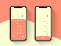DailyUI#004 Calculator