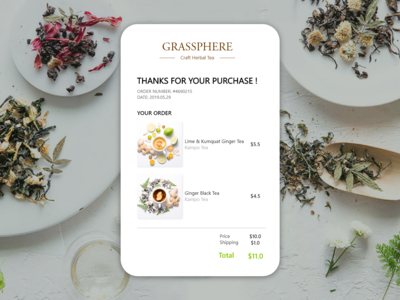 DailyUI #017 Email Receipt