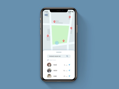 DailyUI #020 Location Tracker