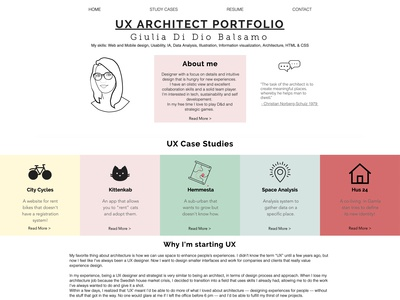 Portfolio's website