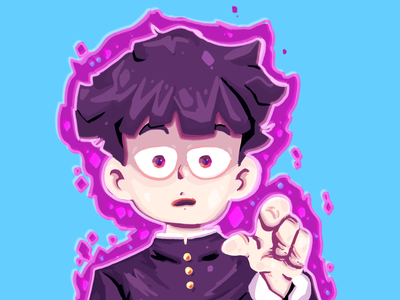 MOB anime mob psycho paint painting fanart 2d artwork illustration art illustration