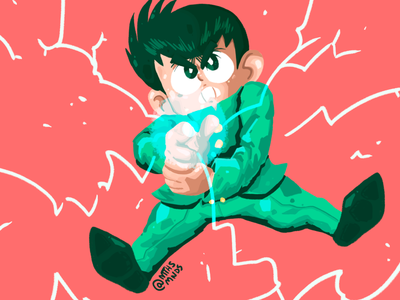 YU YUSUKE yu yu hakusho fanart anime 2d artwork illustration art illustration