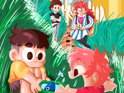 PONYO painting studio ghibli ghibli ponyo fanart 2d artwork illustration art illustration