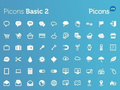 Picons.me Launched! pictograms vector icons picons download royalty free