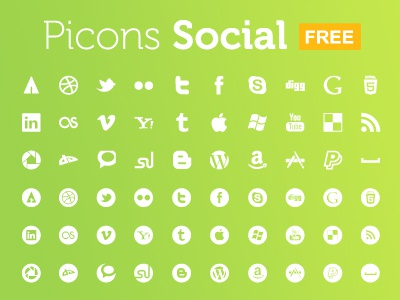 Picons Social FREE Download pictograms vector icons picons download royalty free