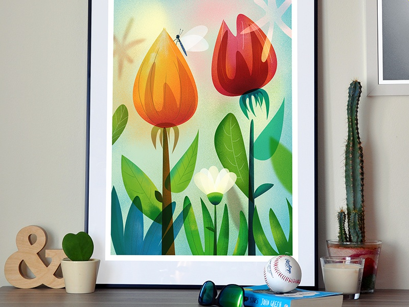 84posters print flower 800