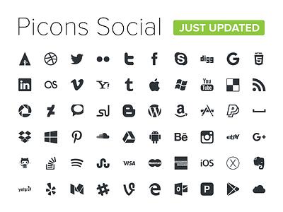 Picons Social v3.2 - FREE icons free social picons