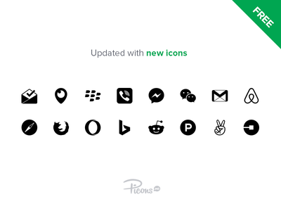 Picons Social Update - 16 icons added icon download free social icons picons
