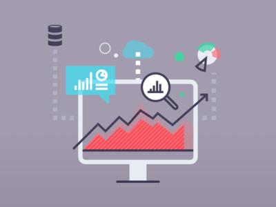 Business Analytics Graphic data vector cloud icons graphs analytics business
