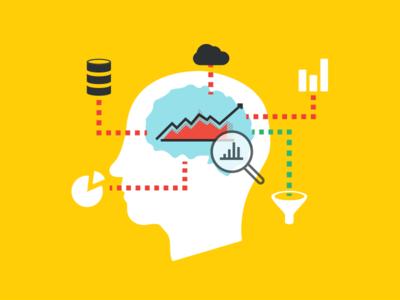 Business Analytics Graphic, vol 2 brain data vector cloud icons graphs analytics business