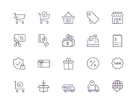 Shopify & Iconfinder eCommerce Icons