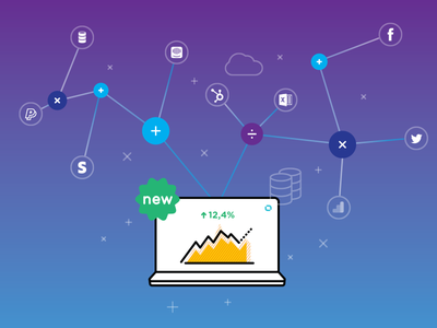 Databox Calculations functions formulas calculation analytics illustration icons vector