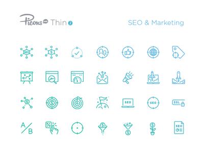 SEO & Marketing icons