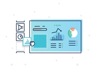 Vector Illustrations for Databox ui drag  drop illustration dashboard vector