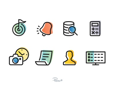 Custom icons for Databox thin color vector databox custom picons icons
