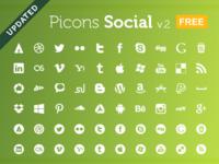 Picons Social v.2 FREE picons picons.me icons free social downlaod vector