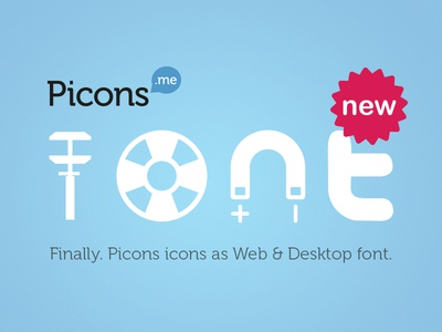 Picons Font released!
