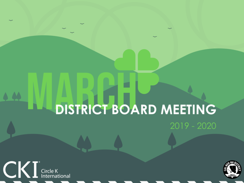 March District Board Meeting