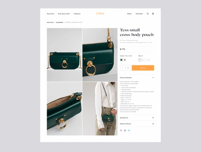Chloé | Product Page shop clean clean ui ecommerce design ecommerce clothes sales website apparel product product page uiux ui minimal