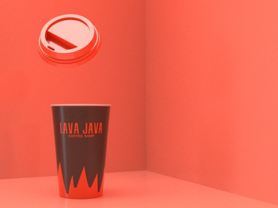 LAVA JAVA Coffee Shop cafe coffee shop packaging package cup