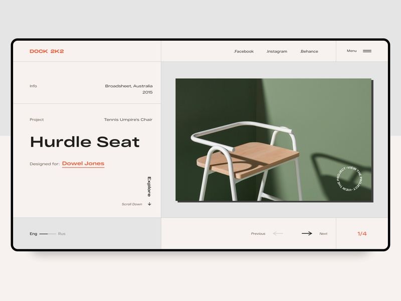 DOCK 2K2 modern table furniture store grids web ux ui grotesk typogaphy furniture chair