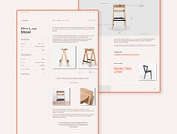DOCK 2K2 | The Lap Stool modern ui uxdesign typogaphy chair stool grid website concept furniture design ecommerce shop ecommerce furniture minimal web website ux design uidesign uxui