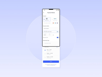 Registration — Payment Method iphone x apply commission subscribe card design card payment method payment form payments paypal payment app cash webdesign uxui web ui payment application ui
