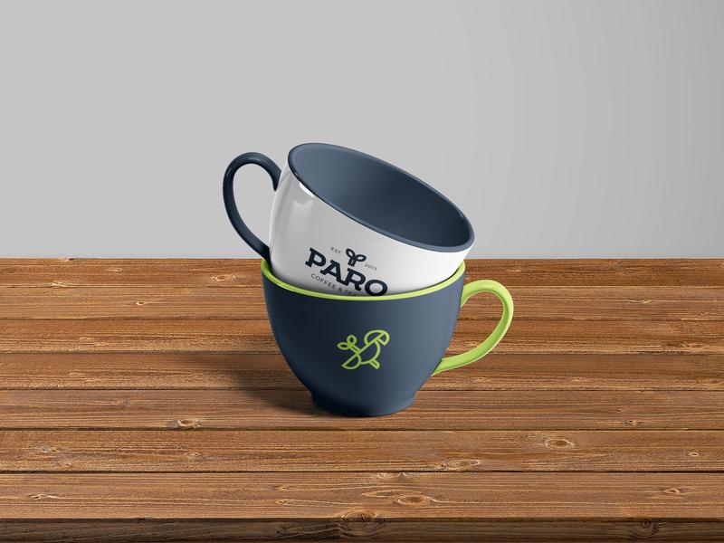 PARO - Coffee cups brandidentity logo design mark identity symbol logodesign logo brand identity design branding design brand identity