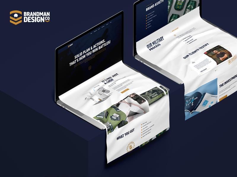 Brandman Design Co Capabilities Page creative agency branding corporate website webdevelopment webdesign web site wordpress website design website