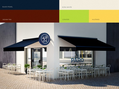 PARO Branding presentation - Cafe Location and brand colors symbol logo mark logotype logo identity color palette colors cafe store location brand identity branding