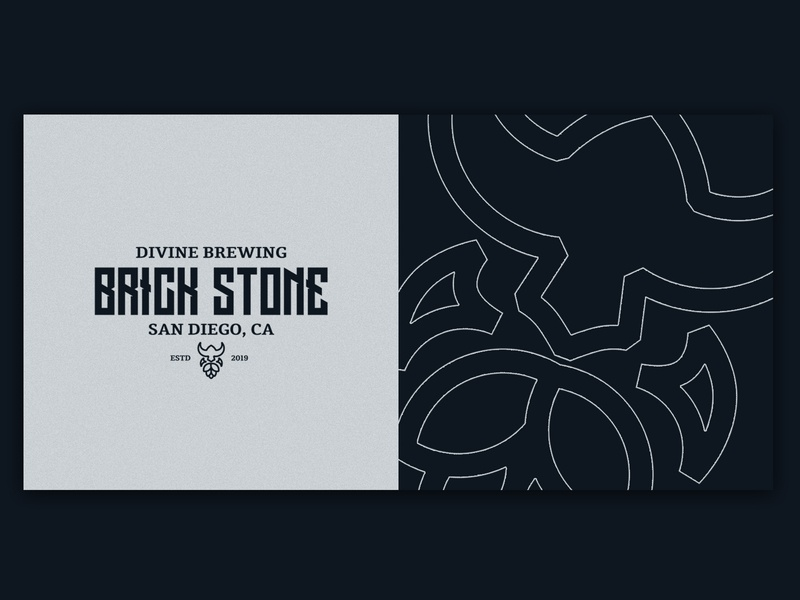 BrickStone Logo trademark wordmark logotype brewing beer identity brand icon symbol brand identity logodesign logo