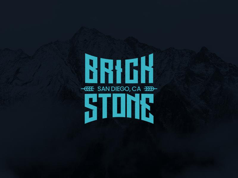 BrickStone wordmark wordpress brewery beer brewing brand identity symbol identity logo mark typeface font typography logotype logo wordmark