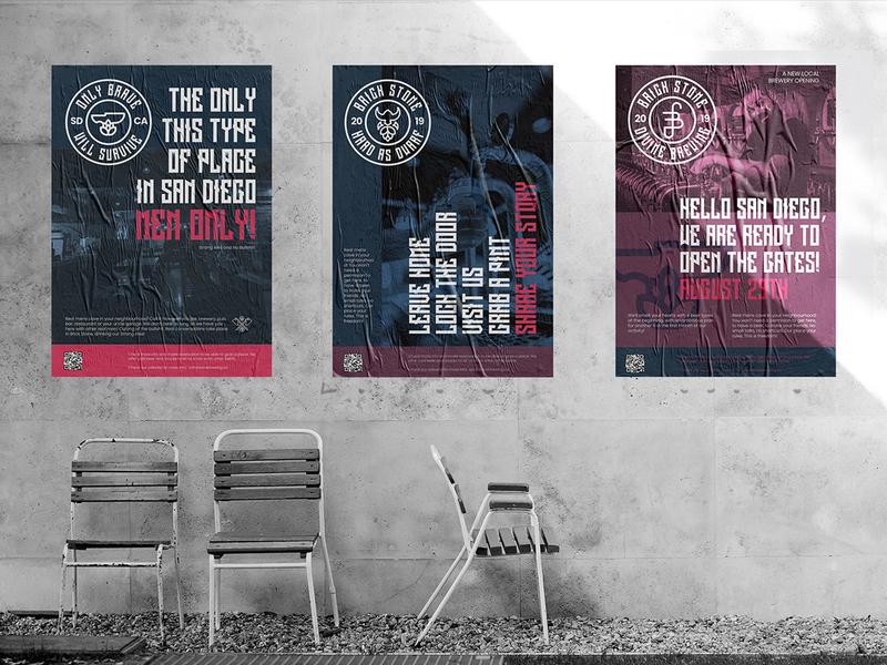 BrickStone promoPosters poster design media advertising identity brand identity flyer marketing promo design creative design poster