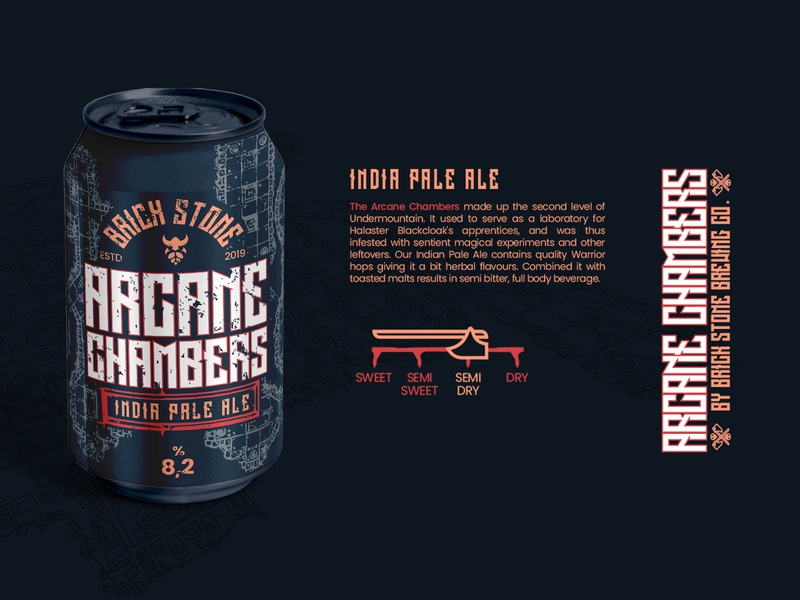 Arcane Chambers Packaging product naming product brand identity identity label brewery beer branding packaging design packaging beer