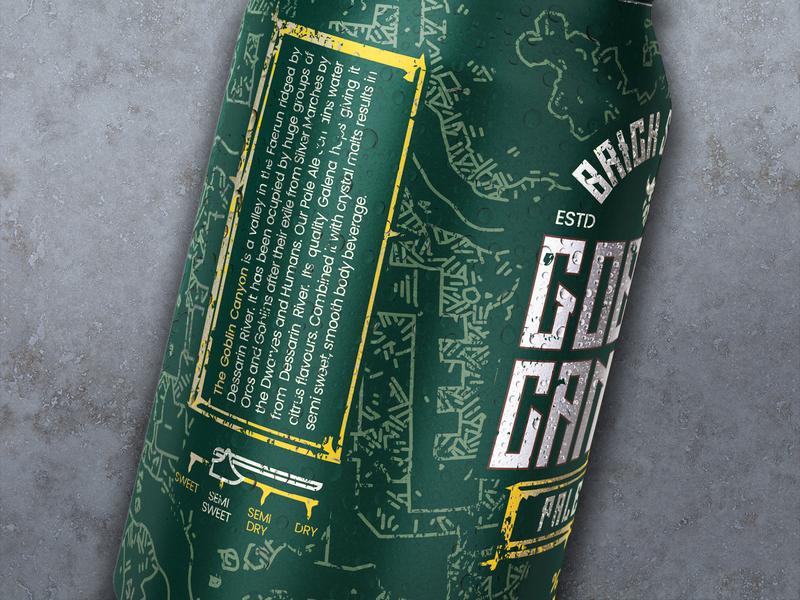 Goblin Canyon Beer closeup product design packaging design beer branding brewery brewing beer label beer packaging packaging beer