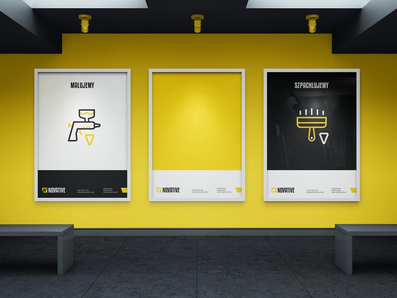 Novative promo posters construction marketing brand identity identity stationery promotion posters print design poster design poster