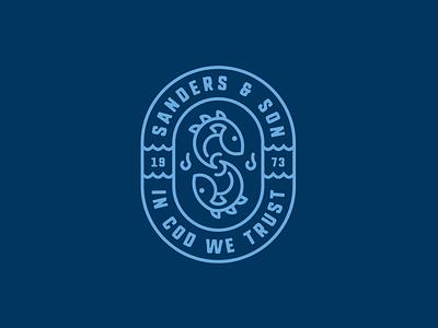 Sanders & Son - logo concept branding brand identity mark symbol identity logo design logo
