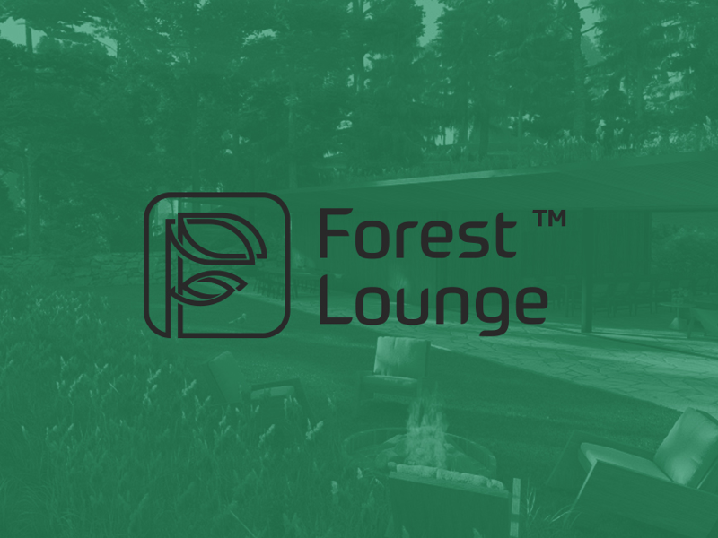 Forest Lounge - shared workspace / chill lounge wordmark branding brand identity mark symbol identity logo design logo
