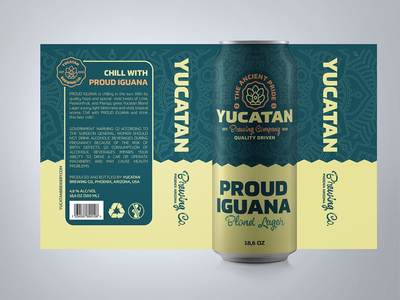Yucatan Brewery - Proud Iguana Beer label