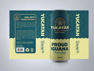 Yucatan Brewery - Proud Iguana Beer label