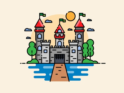 My little Camelot - Castle illustration / doodle
