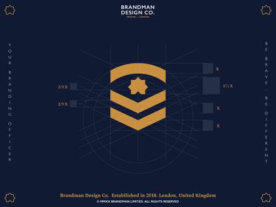 Brandman Design Co. New Identity / Logo symbol grid